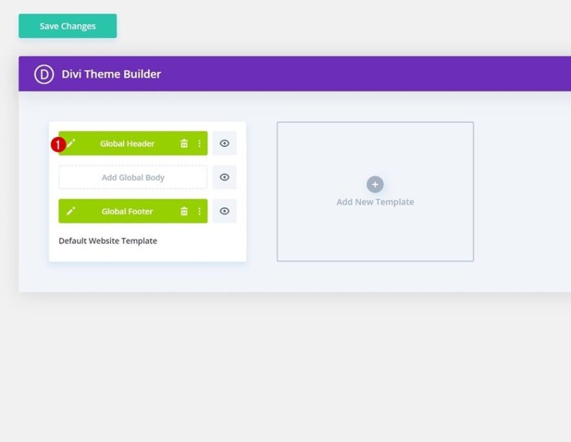 header & footer template for Divi's Interpreter Layout Pack