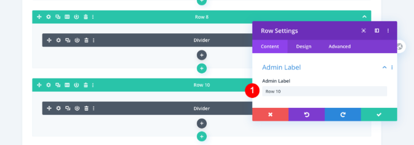 scrollable portfolio navigation list
