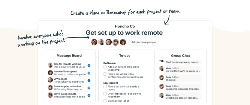The Basecamp project management app.