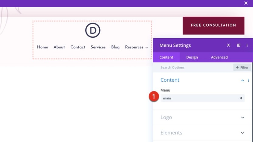 divi dietitian header and footer template