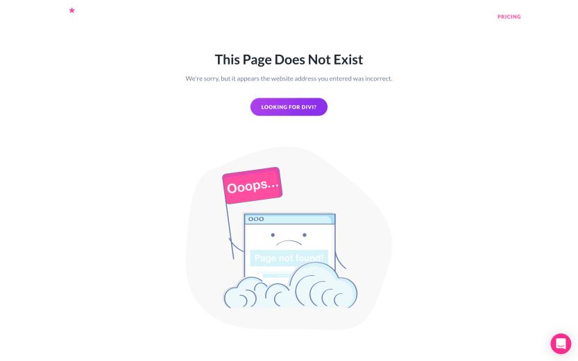 Elegant Theme's 404 error page.
