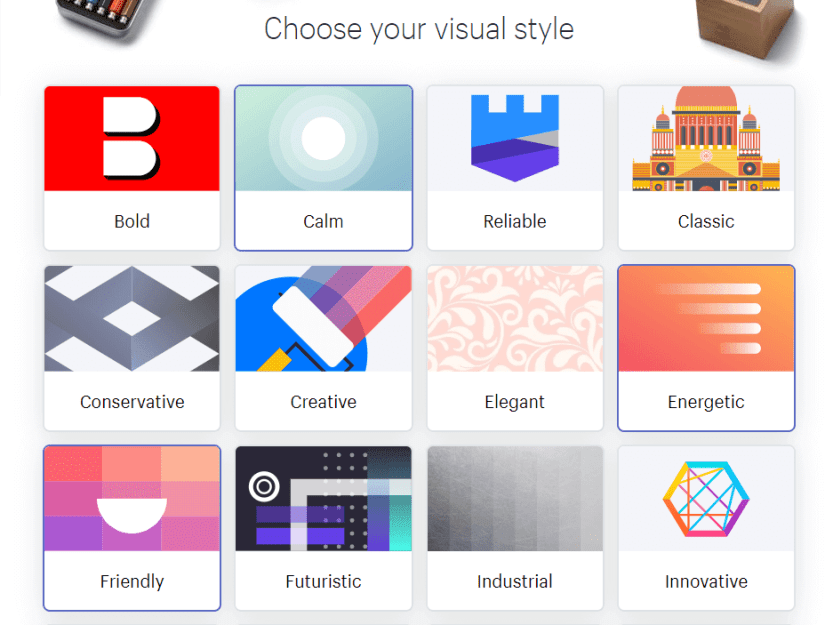 Choosing what visual style to use.