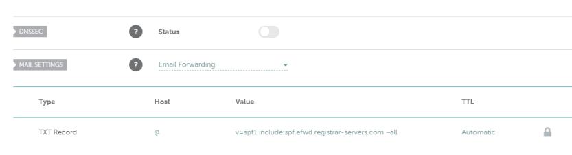 Configuring Namecheap's DNS records.
