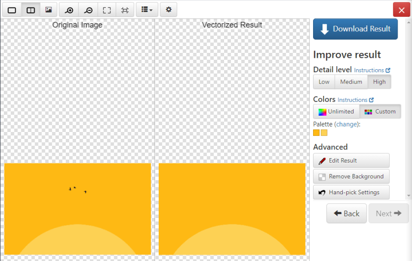 Editing an SVG file.