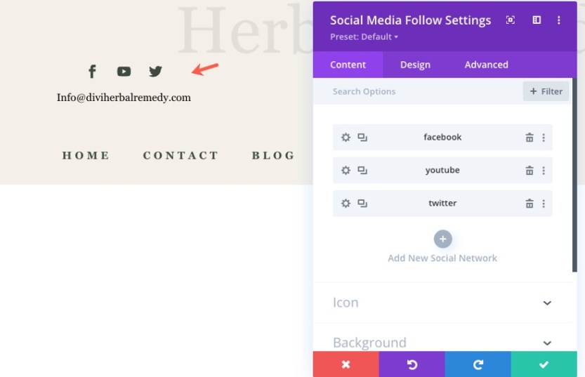 divi herbal rememdy header and footer template