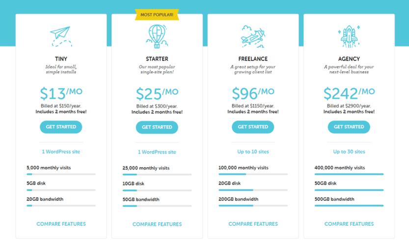 flywheel hosting prices