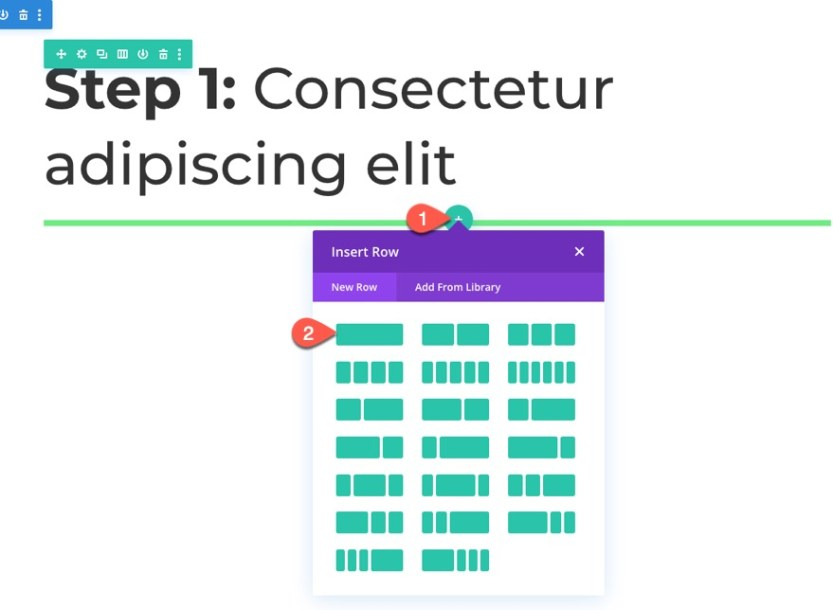accordion using sticky page headings in divi