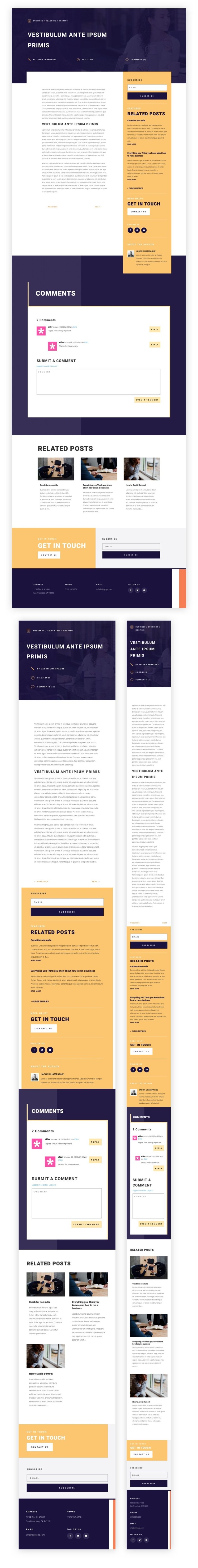 blog post template for Divi's PR Firm Layout Pack