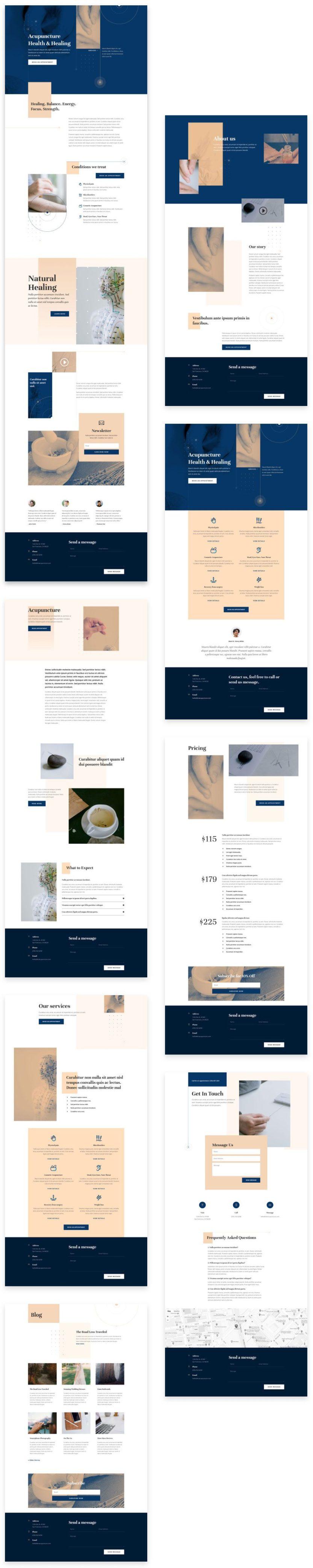 divi acupuncture layout pack