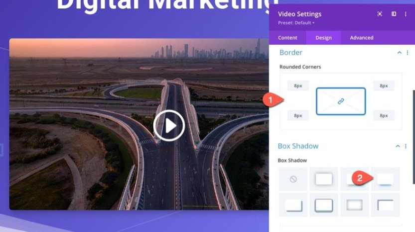 divi sticky promo video with toggle
