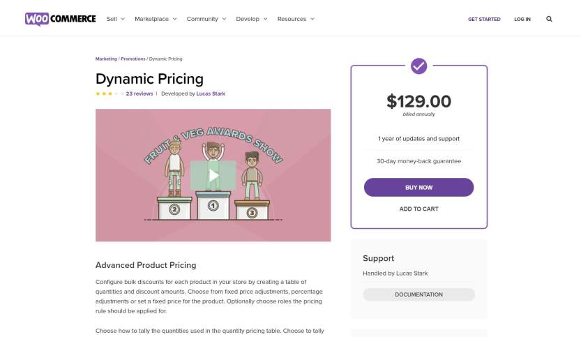 The WooCommerce Dynamic Pricing plugin.