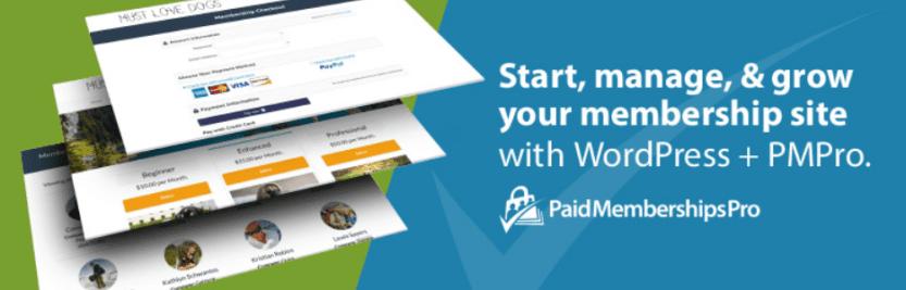 The Paid Memberships Pro plugin