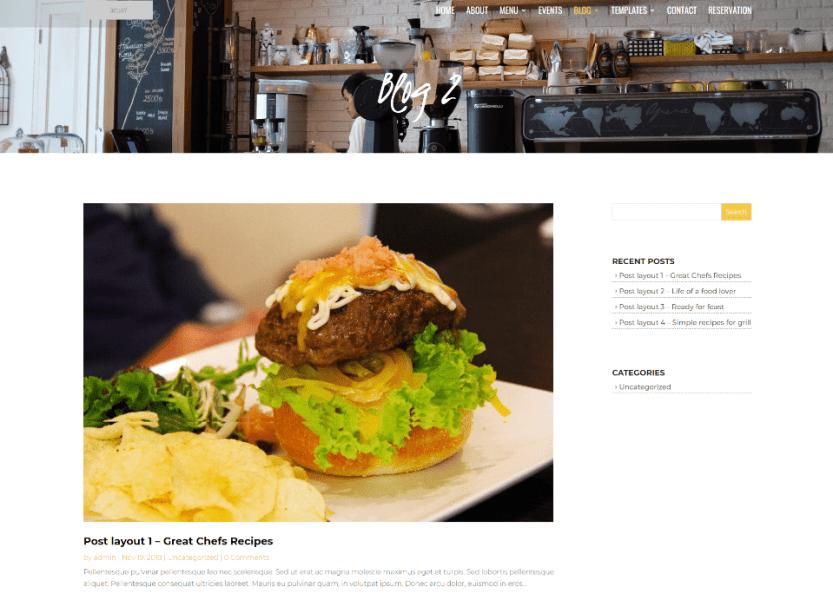 Divi Chef Blog Pages