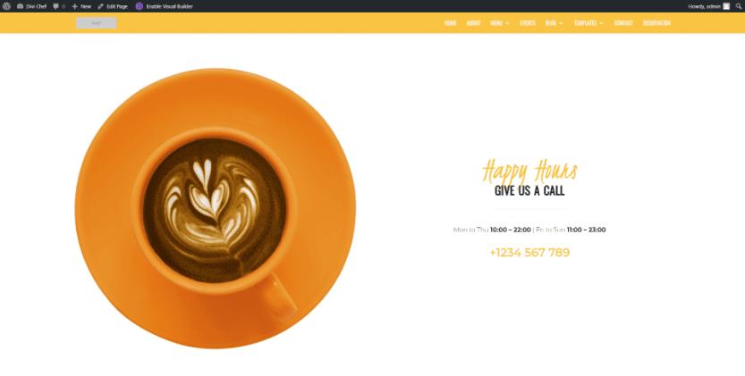 Divi Chef Child Theme Home Page