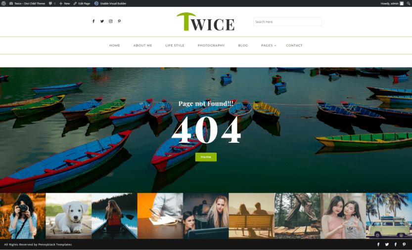 Twice Divi Child Theme 404 Page