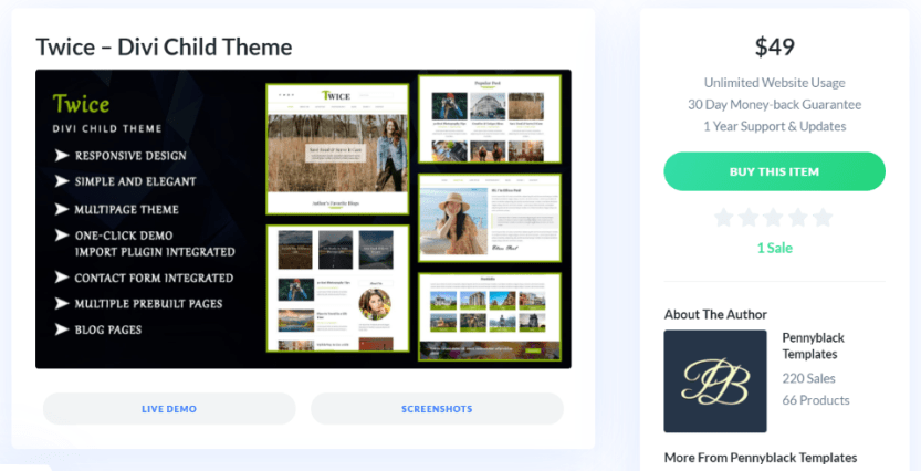 Where to Purchase the Twice Divi Child Theme