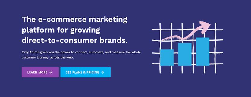 The Adroll Facebook marketing tool.