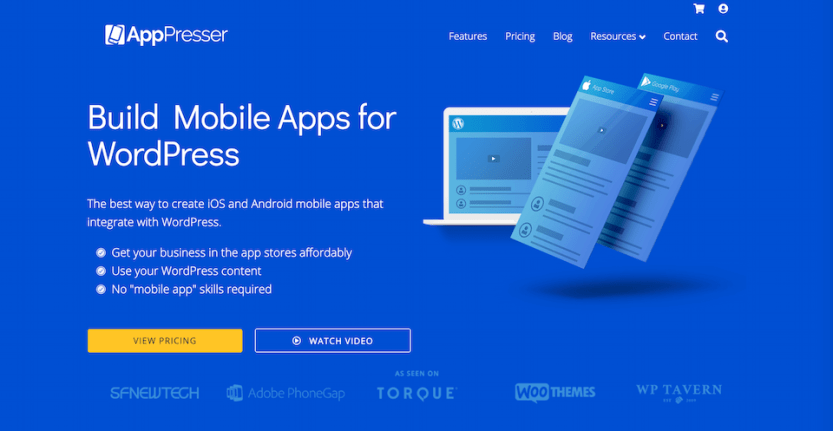The AppPresser home page.