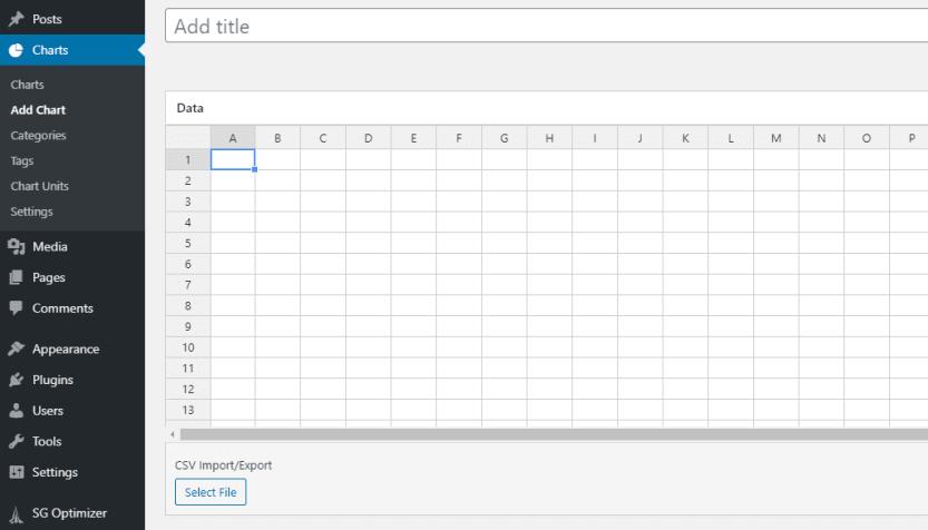The M Chart spreadsheet editor