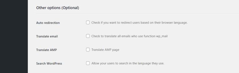 Configuring Weglot's settings