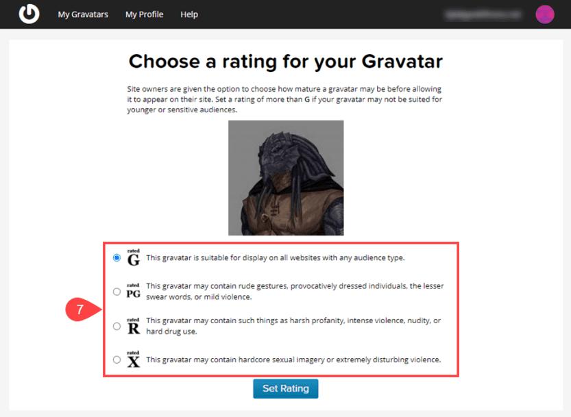 gravatar rating