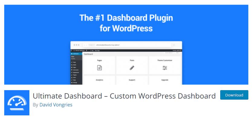 ultimate dashboard plugin