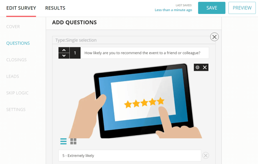 An OpinionStage survey template