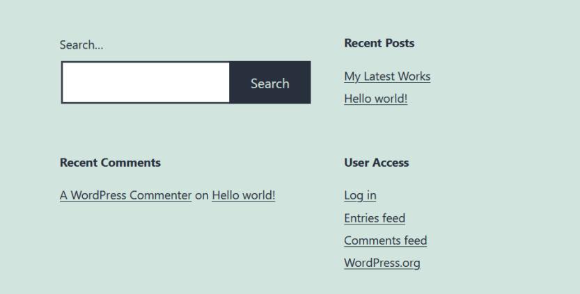 A user access option.