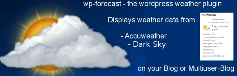 The wp-forecast WordPress weather plugin.