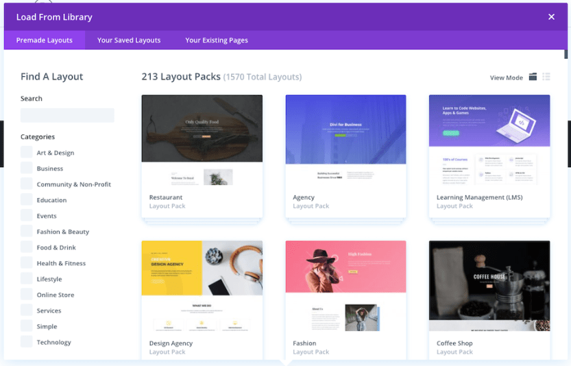 static home page