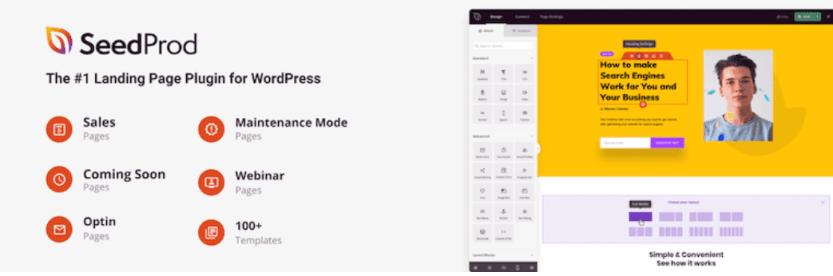 The SeedProd WordPress plugin.