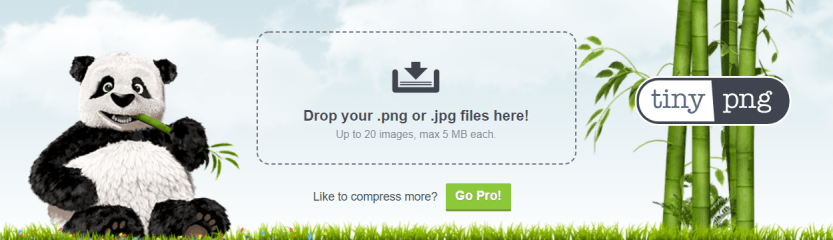 The TinyPNG homepage