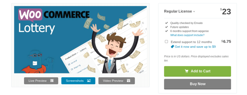 The WooCommerce Lottery plugin.