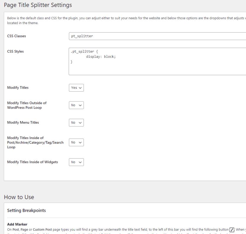 Page Title Splitter