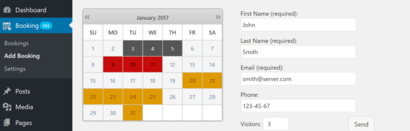 The Booking Calendar WordPress plugin.