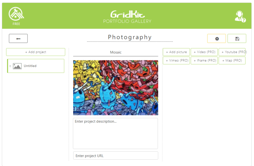 An example of a GridKit gallery