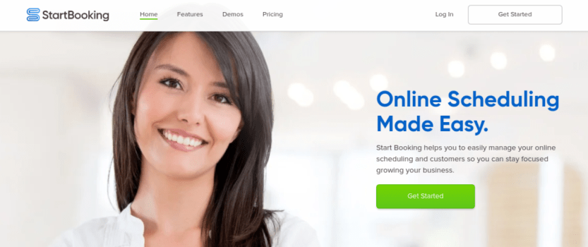 The Start Booking website.
