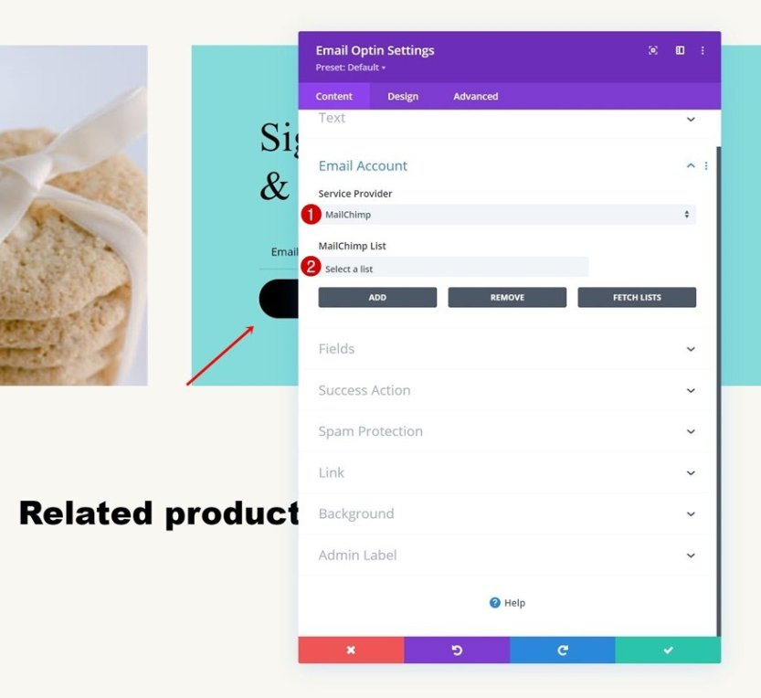 homemade cookies product page template