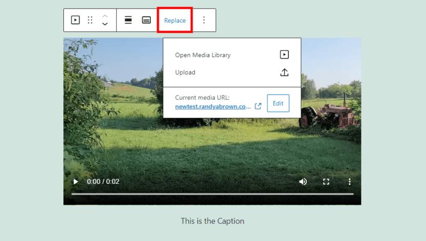 Video Block Replace
