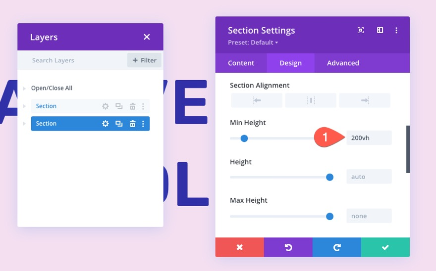 divi sticky navigation bar from bottom to top