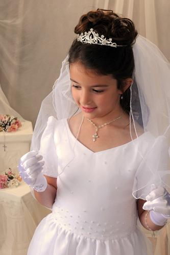First Communion Silver Crown Tiara First Communion