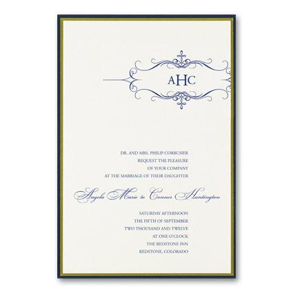 Formal Wedding Invitation Wording Parte One