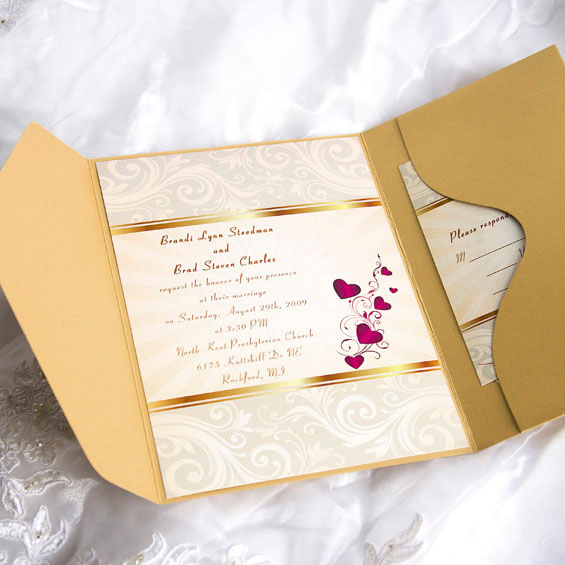 Pocket Wedding Invitations From