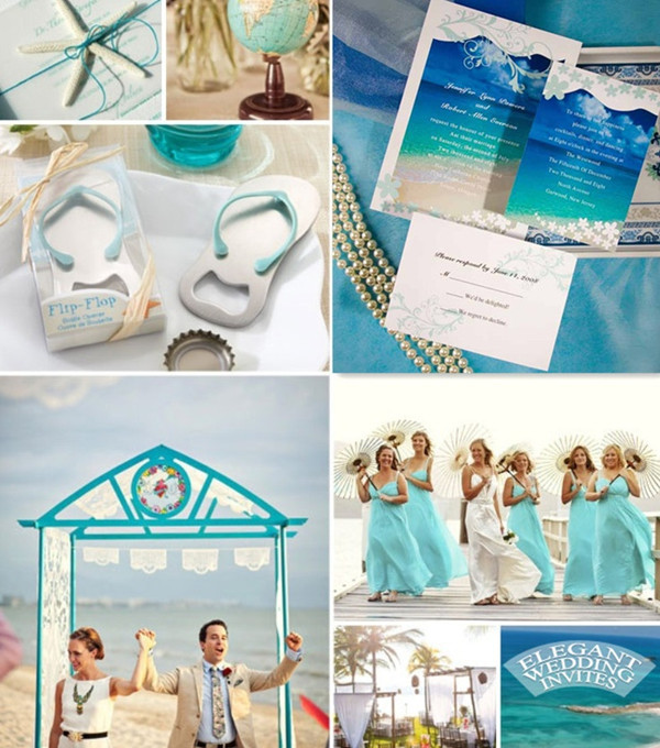 Seal And Send Beach Wedding Invitations To Set The Tone For