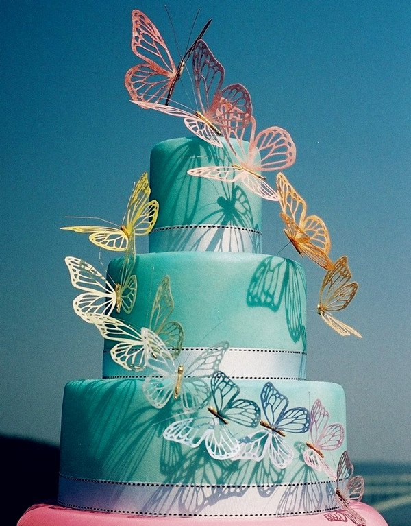 Top 5 Butterfly Wedding Invitations and Wedding Cakes     butterfly theme wedding cakes