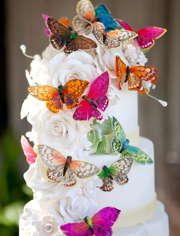Top 5 Butterfly Wedding Invitations and Wedding Cakes     butterfly wedding cakes