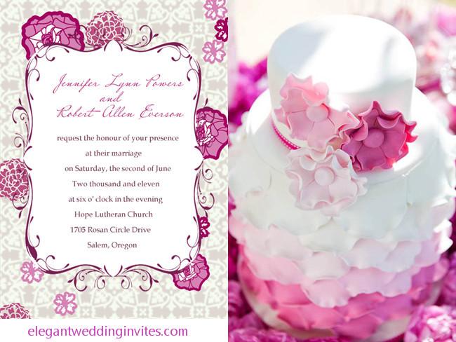 Purple And Pink Wedding Invitations Ideas