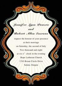 free halloween themed wedding invitations