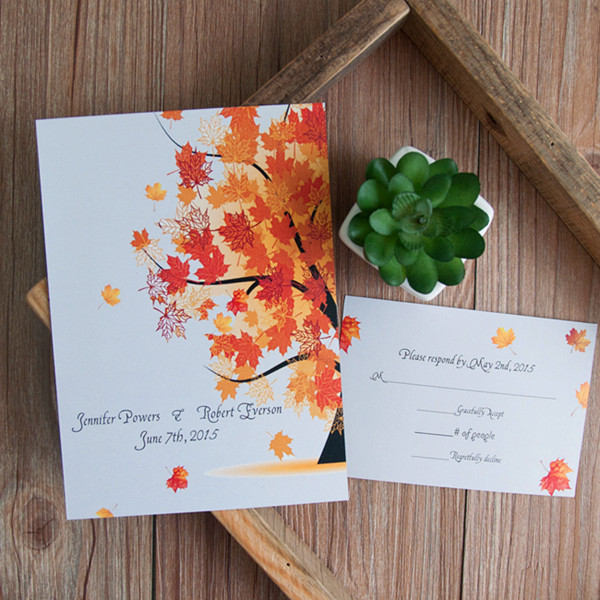 Fall Wedding Invitations For Autumn