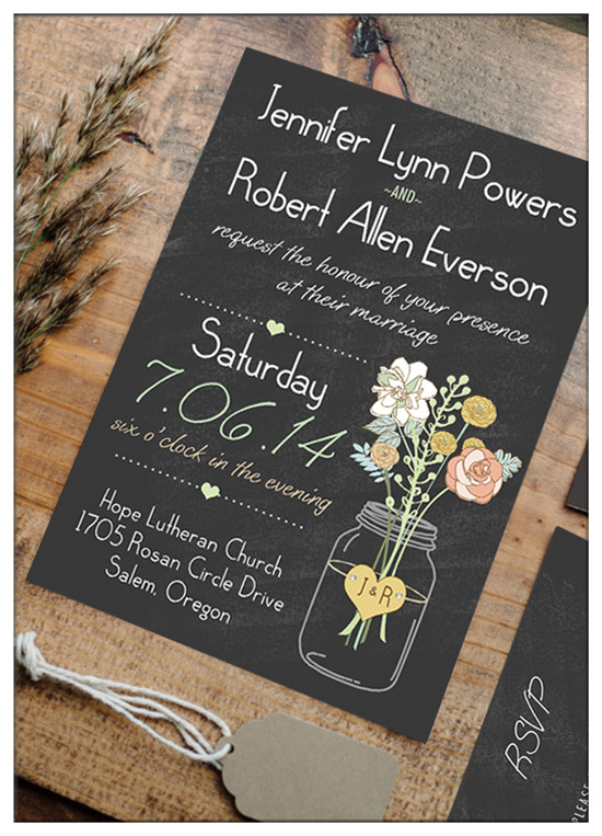 Chic Country Rustic Wedding Invitations
